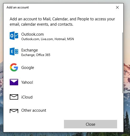 Setup email account in Mail app on Windows 10 - Pivot Creative