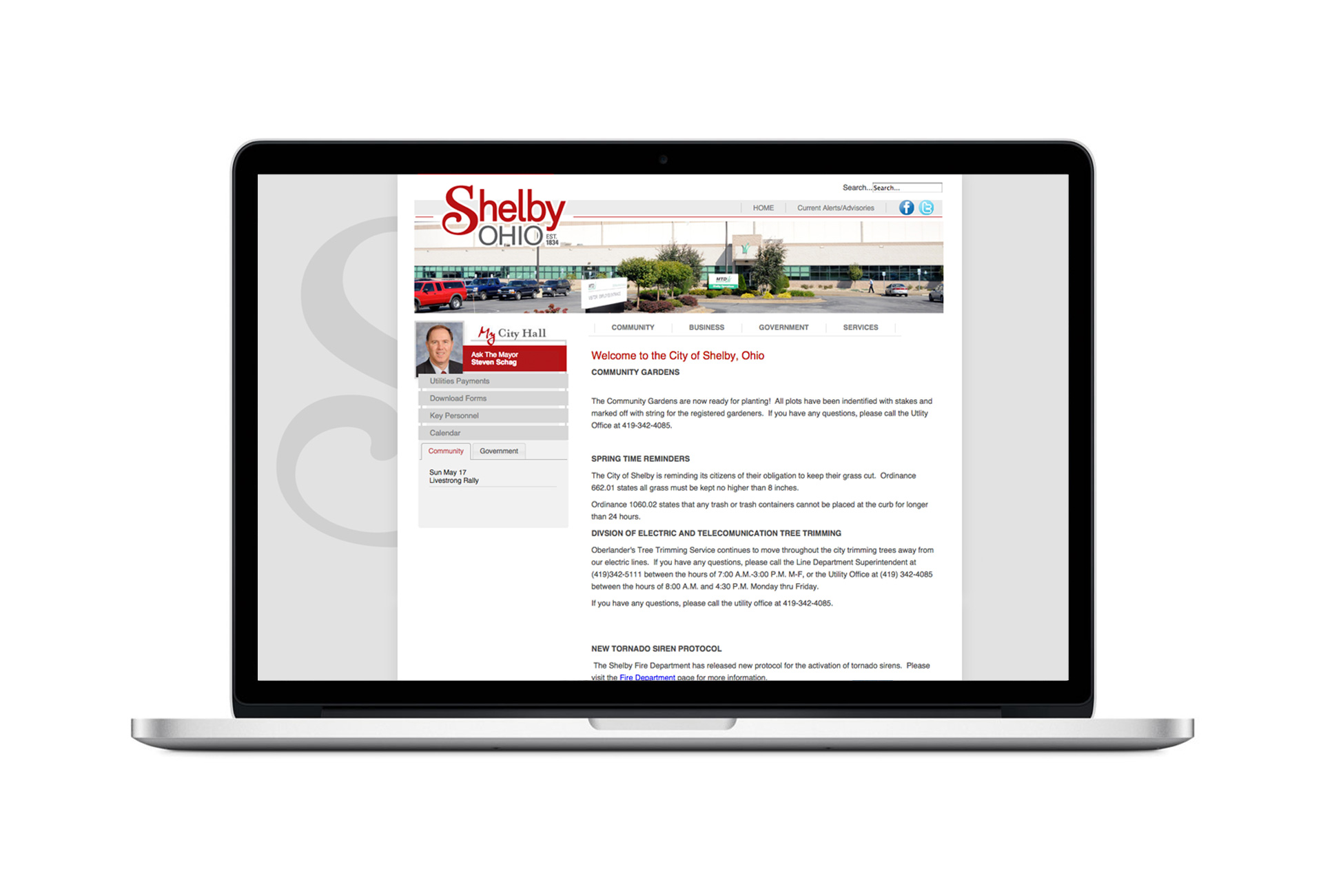 City-of-Shelby-Website