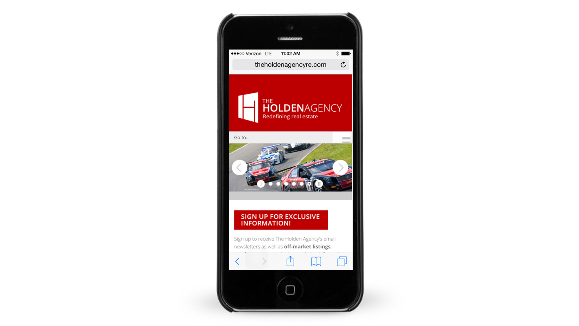 The Holden Agency Mobile Web